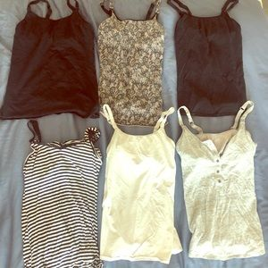 Tops - 6 nursing tank tops- XS and Small